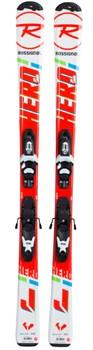 Детские горные лыжи Rossignol HERO JR KID-X/KID-X 4 B76 (RAFJY02+FCFK002) - фото 10319