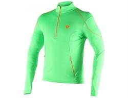 Мужской флис DaineseFleece Man Small Zip E1 Eden-Green/Autumn-Glory - фото 10573