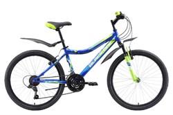 Велосипед Black One Ice 24 синий/зеленый/голубой - фото 10690
