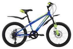 Детский велосипед Black One Ice 20 D, синий/зелёный/голубой - фото 10691