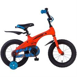 """Детский велосипед NOVATRACK BLAST 14"""", оранжевый неон - фото 10721"""