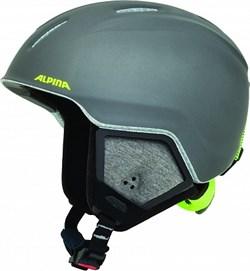 Детский шлем Alpina CARAT XT charcoal-neon matt - фото 10787