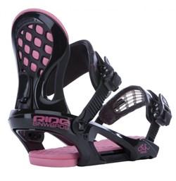 Женские сноубордические крепления RIDE LXH, Black-Pink (распродано) - фото 3874