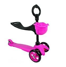 Детский самокат ExploreSADDLER, Pink (3 in 1) - фото 5896