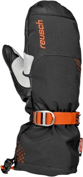 Варежки Reusch	Chamber II Mitten 794 black/orange popsicle - фото 9492