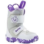 Детские сноубордические ботинки BURTON GROM, WHITE/PURPLE