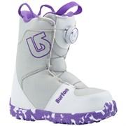 Детские сноубордические ботинки BURTON GROM BOA, WHITE/PURPLE