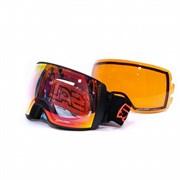 Горнолыжная маска Salice w. Coffre & Spare Lens BLACK-ORANGE/RADIUM + SONAR, 605DARWF