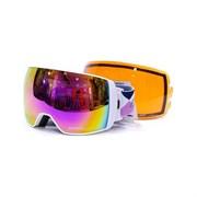Горнолыжная маска Salice w. Coffre & Spare Lens WHITE-PURPLE/RADIUM + SONAR , 605DARWF