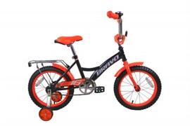 """Детский велосипед Bravo Boy 16"""", чёрный/оранжевый/белый"""