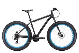 Горный велосипед Stark Fat 26.2 D, чёрный/голубой