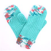 ROXYSAY IT MITTENS, TURQUOISE