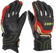 Юниорские перчатки Leki WORLDUP RACE FLEX S JUNIOR black-red-white-yellow