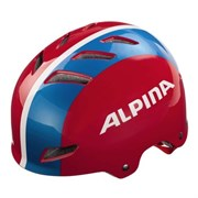 Юниорский шлем ALPINA PARK JR, Red-Blue-White