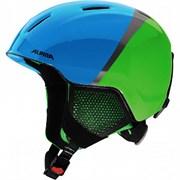 Детский шлем Alpina CARAT LX, green-blue-grey