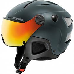 Горнолыжный шлем Alpina ATTELAS Visor QVM, nightblue matt - фото 10778