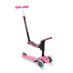 Самокат Globber Go Up Sporty Plus Lights - Розовый - фото 14754