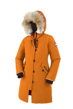 Юниорская куртка Canada Goose Girls Brittania Parka, Sunset orange (распродано) - фото 4976