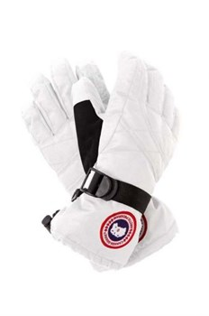 Canada Goose Down Gloves, White (распродано) - фото 4978