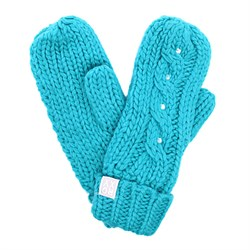 ROXYSHOOTING STAR MITTENS, TURQUOISE - фото 5344