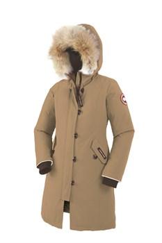 Юниорская куртка Canada Goose Girls Brittania Parka, Tan (распродано) - фото 5665