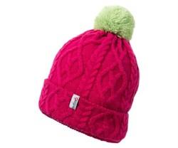 Детская шапка Red Fox Render, indian pink/салатный - фото 5871