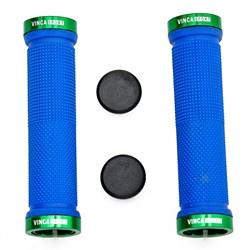 Грипсы с металлическими зажимами Vinca Blue/Green - фото 5992