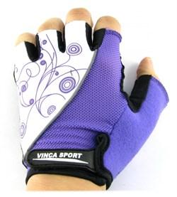 Женские велосипедные перчатки, VG 927 white/violet - фото 6037