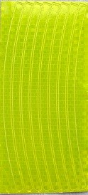 Набор светоотражающих накладок на обод велосипеда, STA 114 yellow - фото 6134
