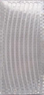 Набор светоотражающих накладок на обод велосипеда, STA 114 silver - фото 6137
