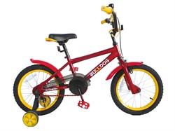 Детский велосипед Stark Bulldog 16'', красный/желтый - фото 6691