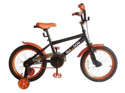Детский велосипед Stark Bulldog 16'', черный/оранжевый (распродано) - фото 6693