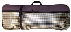 Чехол-рюкзак для самоката ST 3, бордовый клетка - фото 6739