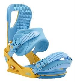 Cноубордические крепления BURTON CARTEL, yellow/blue (распродано) - фото 6883