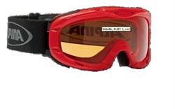 Детская горнолыжная маска Alpina JUNIOR Ruby S, red/SH S1 - фото 7010