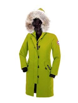 Юниорская куртка Canada Goose Kensington parka kids Aurora green - фото 7057