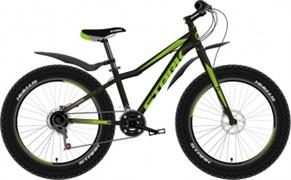 Горный велосипед (фетбайк) Stark Rocket Fat 24.2 D чёрный/зелёный
