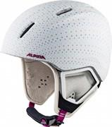Детский шлем Alpina CARAT XT white-polka matt