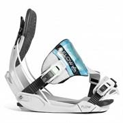 Сноуборд крепления FLOW Minx Hybrid Grey/Aqua 2018-19