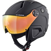 Горнолыжный шлем Alpina ATTELAS Visor QVM black matt 58-62