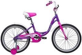 Велосипед NOVATRACK 20, ANGEL, фиолетовый, алюм. рама, тормоз нож, крылья