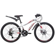 Велосипед NOVATRACK, PRIME20, белый, алюм. , 6-скор, TY21/TS38/SG-6SI, диск. тормоз