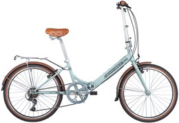 """Складной велосипед NOVATRACK AURORA 24"""", голубой"""