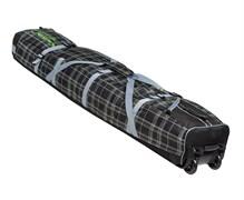 COURSE Чехол на колесах для горных лыж и сноуборда  «Фрост» 145 см (черно-зеленая клетка)