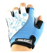 Женские велосипедные перчатки, VG 927 white/blue