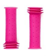 Грипсы детские, резиновые, длина 102мм, Pink