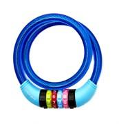 Замок велосипедный кодовый Vinca 12*650mm, Blue
