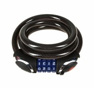 Велозамок кодовый с подсветкой Vinca 12*1200mm, black