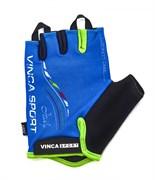 Перчатки велосипедные Vinca, ITALY, Blue